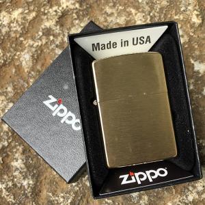 ZIPPO(ジッポー)204B BRASS/ブラス(真鍮) ブラッシュ/つや消し FULL SIZE ZIPPO LIGHTER/ジッポライター 【あすつく】|goody-online