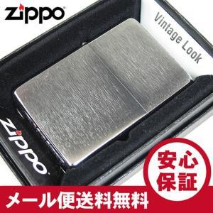 ZIPPO(ジッポー)230-25 Vintage/ヴィンテージ 定番スタンダード ブラッシュクローム/つや消し FULL SIZE ZIPPO LIGHTER/ジッポライター 【あすつく】|goody-online