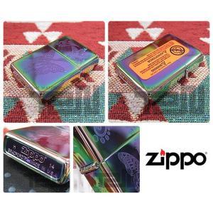 ZIPPO(ジッポー)28442 Butterfly Spectrum/スペクトラム 蝶/チョウ 虹色 FULL SIZE ZIPPO LIGHTER/ジッポライター 【あすつく】 goody-online 03