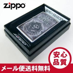 ZIPPO(ジッポー) 28502 Sons of Anarchy-Fear The Reaper ステンクローム FULL SIZE ZIPPO LIGHTER/ジッポライター 【あすつく】|goody-online
