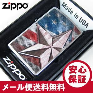 ZIPPO(ジッポー) 28653 RETRO STAR&USA FLAG/レトロスター ブラッシュ/つや消し FULL SIZE ZIPPO LIGHTER/ジッポライター 【あすつく】|goody-online