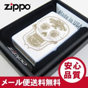 ZIPPO(ジッポー) 28792 Skull-Day of the Dead/スカル 死者の日 マットホワイト FULL SIZE ZIPPO LIGHTER/ジッポライター 【あすつく】|goody-online