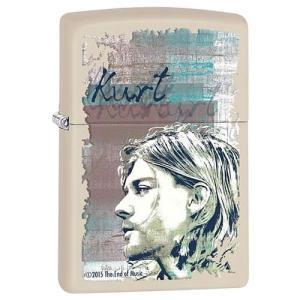 ZIPPO(ジッポー) 29051 Kurt Cobain/カート・コバーン Cream Matte/クリームマット FULL SIZE ZIPPO LIGHTER/ジッポライター 【あすつく】 goody-online