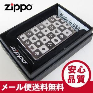 ZIPPO(ジッポー) 29082 Playing Cards/トランプ Black Ice Chrome ブラックアイスクローム FULL SIZE ZIPPO LIGHTER/ジッポライター 【あすつく】|goody-online