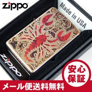 ZIPPO(ジッポー) 29096 Scorpion/スコーピオン ハイポリッシュ 光沢 ゴールド FULL SIZE ZIPPO LIGHTER/ジッポライター 【あすつく】|goody-online