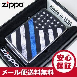 ZIPPO(ジッポー) 29551 BLUE LINE/星条旗 ブルーライン Street Chrome/ストリートクローム FULL SIZE ZIPPO LIGHTER/ジッポライター 【あすつく】|goody-online