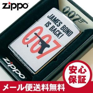 ZIPPO(ジッポー) 29563 007-JAMES BOND IS BACK/ジェームス・ボンド ブラッシュ/つや消し FULL SIZE ZIPPO LIGHTER/ジッポライター 【あすつく】|goody-online