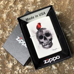 ZIPPO (ジッポー) 29644 Spazuk スカル オイルライター レギュラーサイズ マットホワイト 【あすつく】|goody-online