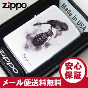 ZIPPO (ジッポー) 29645 Spazuk 手榴弾 オイルライター レギュラーサイズ マットホワイト 【あすつく】|goody-online