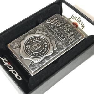 ZIPPO(ジッポー) 29829 Jim Beam Emblem/ジムビーム エンブレム ブラッシュ FULL SIZE ZIPPO LIGHTER/ジッポライター 【あすつく】|goody-online