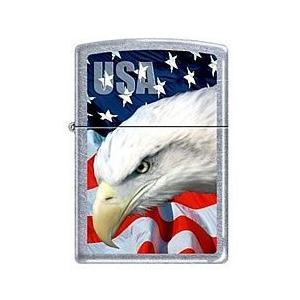 ZIPPO(ジッポー) 3021 USA Flag & Eagle/ミリタリー シルバー FULL SIZE ZIPPO LIGHTER/ジッポライター 【あすつく】|goody-online