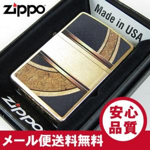ZIPPO(ジッポー) 28673 BRUSHED BRASS/ブラッシュブラス ゴールド×ブラック FULL SIZE ZIPPO LIGHTER/ジッポライター 【あすつく】|goody-online