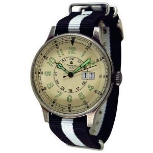 Aeromatic191 2エアロマティック1912 クォーツ 腕時計 メンズ A1254SW 43mm 文字盤ベージュ(薄茶)|googoods