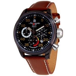 エアロマティック Aeromatic1912 エアロマチック クォーツ クロノグラフ 正規代理店 腕時計 A1428|googoods