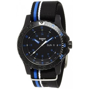 腕時計 メンズ 送料無料 TRASER スイス製 MIL-G Blue infinity(ミルジー ブルー インフィニティ) 9031563|googoods
