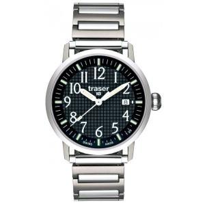 腕時計 メンズ 送料無料 TRASER スイス製 Classic Basic Black T4102.240.A2.01|googoods
