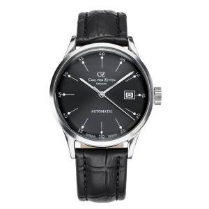 腕時計 メンズ 自動巻 ドイツ時計 ドイツデザイン CvZ カール・フォン・ツォイテン CarlvonZeyten CvZ0002BK|googoods
