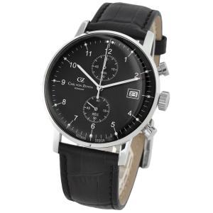 腕時計 メンズ ドイツ時計 ドイツデザイン クロノグラフ CvZ カール・フォン・ツォイテン CarlvonZeyten CvZ0007BK|googoods