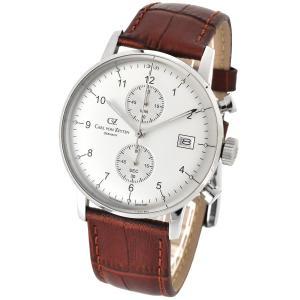 腕時計 メンズ ドイツ時計 ドイツデザイン クロノグラフ CvZ カール・フォン・ツォイテン CarlvonZeyten CvZ0007WH|googoods