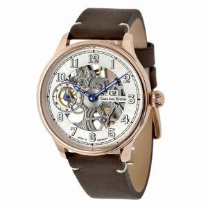 腕時計 メンズ 手巻き ドイツ製 ドイツ時計 ミリタリーウォッチ パイロットウォッチ Carl von Zeyten カール・フォン・ツォイテン CvZ0021RWH|googoods