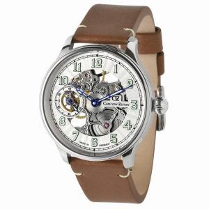 腕時計 メンズ 40代 手巻き ドイツ製 ドイツ時計 ミリタリーウォッチ パイロットウォッチ Carl von Zeyten カール・フォン・ツォイテン CvZ0021WH|googoods