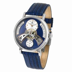 腕時計 メンズ 40代 自動巻 ドイツ製 ドイツ ブランド Carl von Zeyten カール・フォン・ツォイテン ケース幅:44mm 品番:CvZ0042BL|googoods