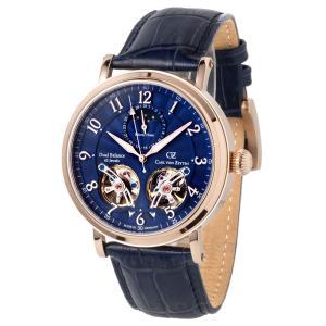 腕時計 メンズ 40代 時計 CvZ カール・フォン・ツォイテン CarlvonZeyten 自動巻き(手巻き機能あり) ケース幅:46mm 品番:CvZ0054RBL|googoods