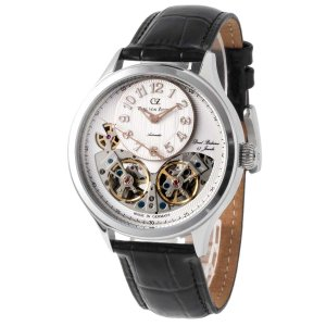 腕時計 メンズ 40代 機械式 自動巻 ドイツ製 ドイツ時計 CvZ カール・フォン・ツォイテン CarlvonZeyten CvZ0055WH|googoods
