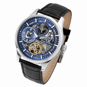 腕時計 メンズ 自動巻 ドイツ製 ドイツ時計 Carl von Zeyten カール・フォン・ツォイテン ケース幅:44mm 品番:CvZ0063BL|googoods