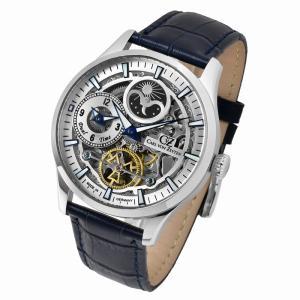 腕時計 メンズ 自動巻 ドイツ製 ドイツ時計 Carl von Zeyten カール・フォン・ツォイテン ケース幅:44mm 品番:CvZ0063SL|googoods