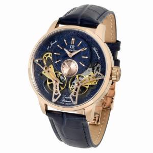 腕時計 メンズ 40代 自動巻 ドイツ製 ドイツ時計 Carl von Zeyten カール・フォン・ツォイテン ケース幅:45mm 品番:CvZ0064RBL|googoods