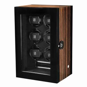 ウォッチワインダー 送料無料 PAUL DESIGN ポールデザイン GENTLEMEN 6 G6ID-M 6本収納 指紋認証式ロック ワインディングマシーン ワインディングマシン|googoods