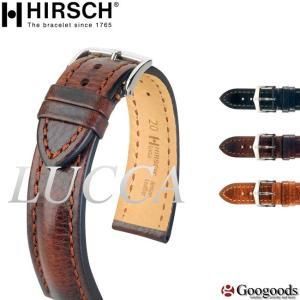 HIRSCH/LUCCA ヒルシュ/ルッカ 腕時計交換ベルト 20mm/22mm/24mm トスカーナ カーフレザー 耐水  h25 googoods
