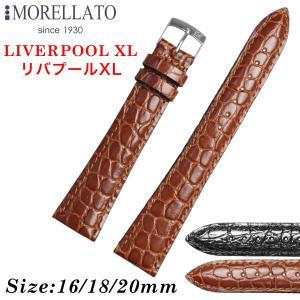 Morellato モレラート LIVERPOOL XL リバプール XL レザーベルト K0751376 時計バンド 汎用品 幅16mm/18mm/20mm|googoods