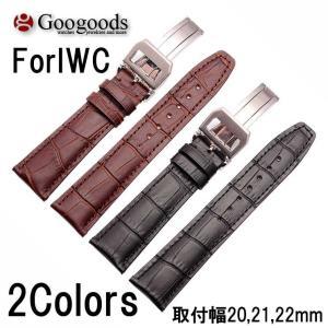 幅20/21/22mm 時計バンド レザーベルト LB075A For IWC|googoods