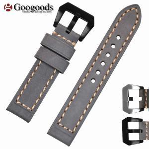 交換用 腕時計ベルト For PANERAI パネライ向け 社外品 レザーベルト 幅20mm/22mm/24mm/26mm LB294|googoods