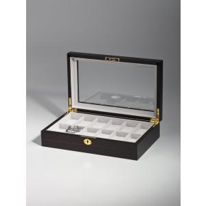 高級腕時計ケース ディスプレーボックス/コレクションケース 12本収納 ROTHENSCHILD ローテンシルト RS-1087-12E|googoods