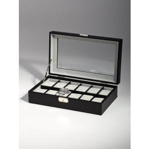 高級腕時計ケース ディスプレーボックス/コレクションケース 12本収納 ROTHENSCHILD ローテンシルト RS-1098-12CFBL|googoods