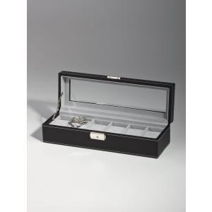 高級腕時計ケース ディスプレーボックス/コレクションケース 6本収納 ROTHENSCHILD ローテンシルト RS-1680-6BL|googoods