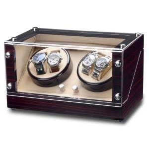 ウォッチワインダー 送料無料 ドイツデザイン ROTHENSCHILD ローテンシルト ワインディングマシーン ワインディングマシン 4本巻き RS-2040-MCS|googoods