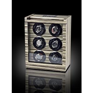 ROTHENSCHILD ローテンシルト ワインディングマシーン ウォッチワインダー  6本巻き ドイツ製  RS-2043-ZBR|googoods