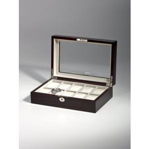 高級腕時計ケース ディスプレーボックス/コレクションケース 6本収納 ROTHENSCHILD ローテンシルト RS-2062-10EB|googoods