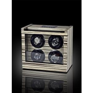 高級腕時計ケース ウォッチワインダー/ワインディングマシーン 4本巻き ROTHENSCHILD ローテンシルト RS-2303-ZBR