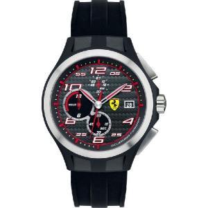送料無料 Ferrari フェラーリLap Time Chronoクロノグラフ Black SF830015|googoods