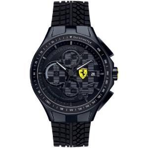 送料無料 Ferrari フェラーリRaceday Chrono クロノグラフ Black SF830105|googoods