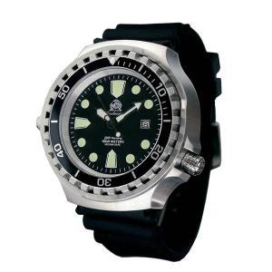 Tauchmeister トーチマイスター 自動巻 1000m防水 正規代理店 メンズ 腕時計 ダイバーズ ダイバー時計 T0297 ヘリウムリリースバルブ搭載|googoods