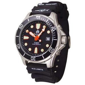 Tauchmeister 1937 トーチマイスター1937 自動巻き(手巻き機能あり) 腕時計 メンズ ダイバーズウォッチ ケース幅:43mm 品番:T0304|googoods