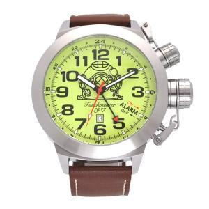 Tauchmeister 1937 トーチマイスター1937 電池式クォーツ 腕時計 メンズ ケース幅:53mm 品番:T0305|googoods