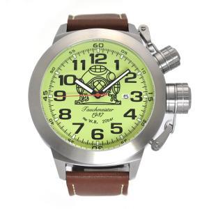 Tauchmeister 1937 トーチマイスター1937 自動巻き(手巻き機能あり) 腕時計 メンズ ケース幅:53mm 品番:T0307|googoods