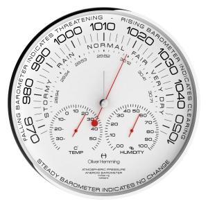 気圧計 温湿度計 イギリスデザイン Oliver Hemming オリバー・ヘミング  W300S105W おしゃれ 引越し 新築 祝い プレゼント googoods